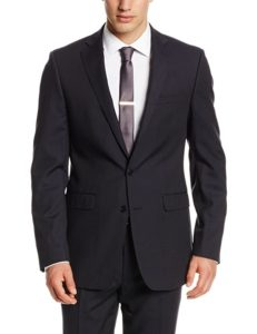 Mabry's extra slim fit suit by Calvin Klein