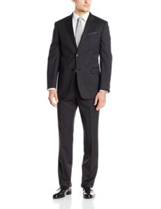 Charcoal slim fit suit by Tommy Hilfiger