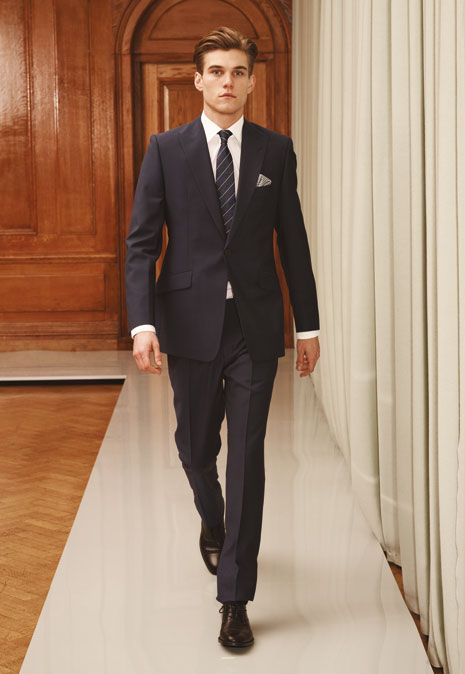 slim fit suit example