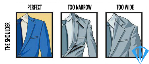 Men's suits guide - How to fit the shoulders