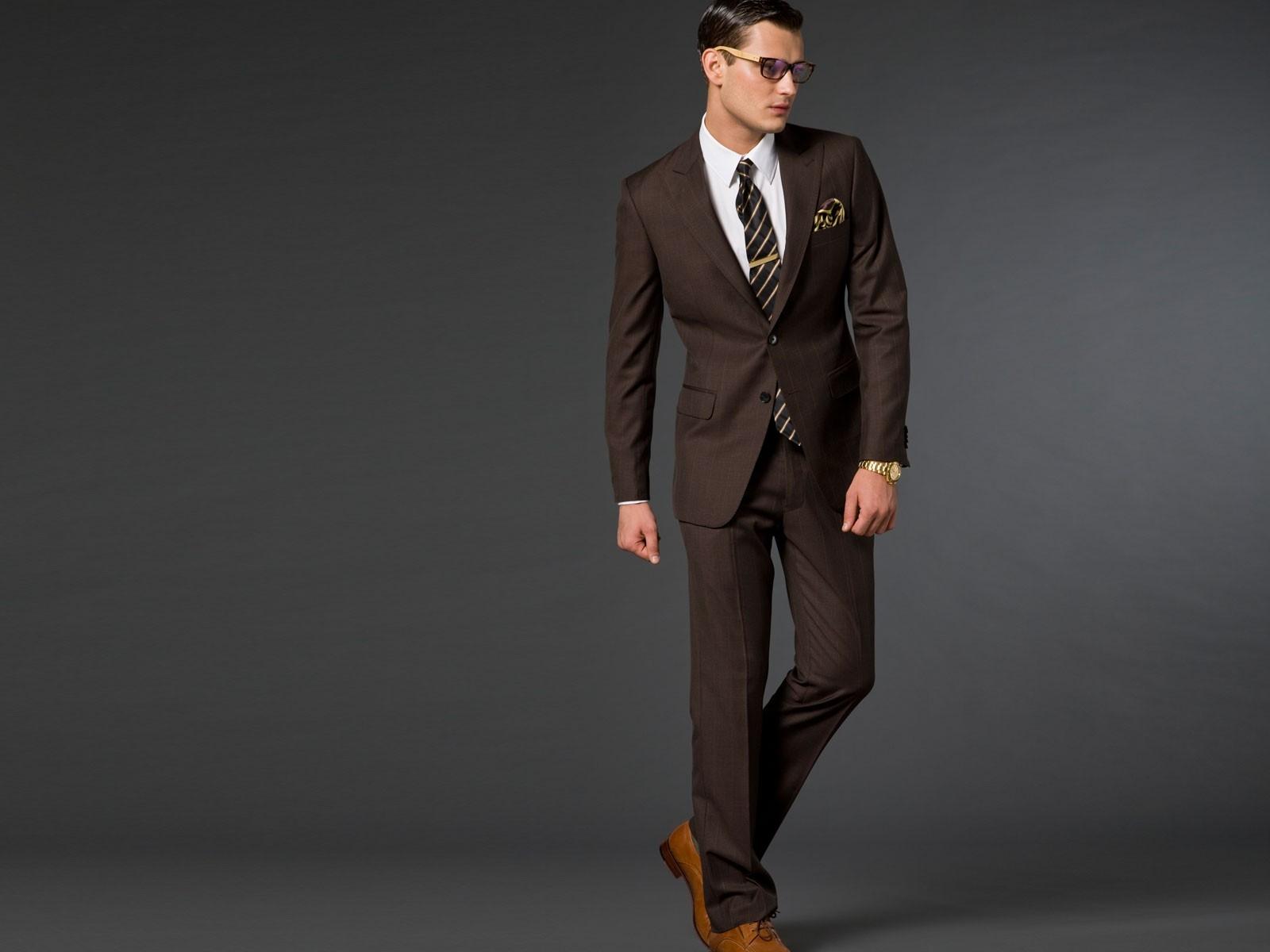 Brown suit color combination
