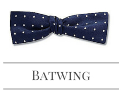 Batwing bow tie