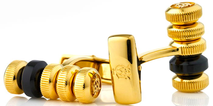 Golden cuff links