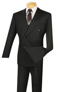 Double breasted classic fit suit by Vinci