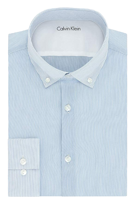 Slim fit blue-striped white shirt by Calvin Klein