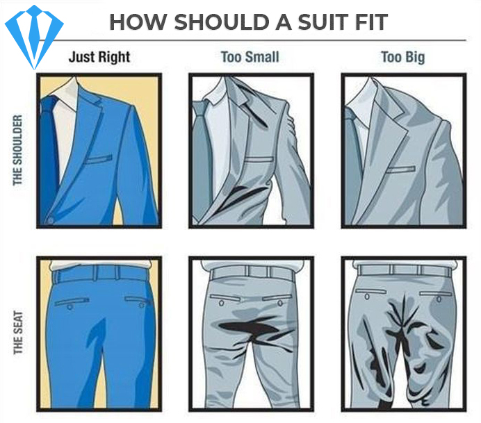 How to fit the pants' seat and the jacket shoulder
