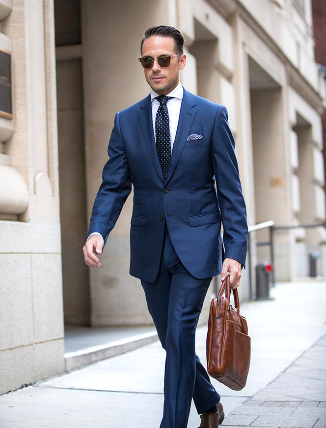 Classic Navy Men Suit