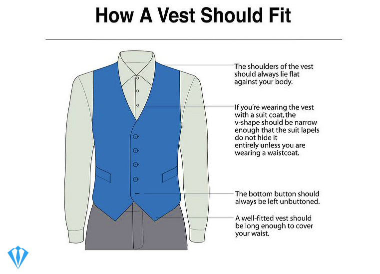 How should a suit vest fit