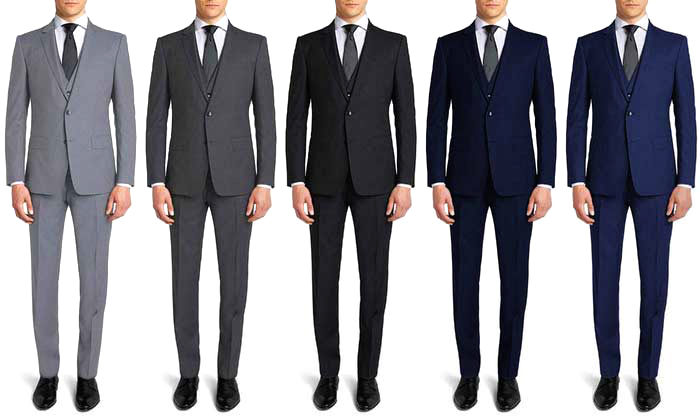 Slim fit suits color combinations