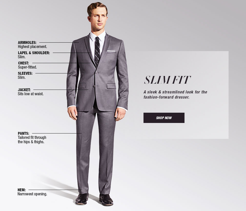 Slim fit suits guide shop