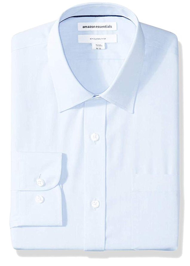 Slim fit light blue shirt by Amazon Essentials