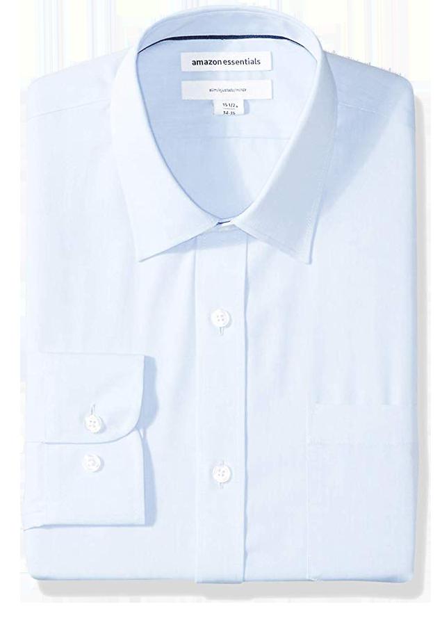 Slim fit light blue slim fit shirt by Amazon Essentials