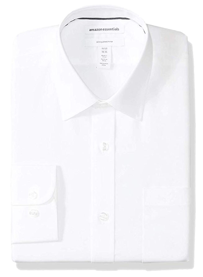Slim fit white shirt by Amazon Essentials