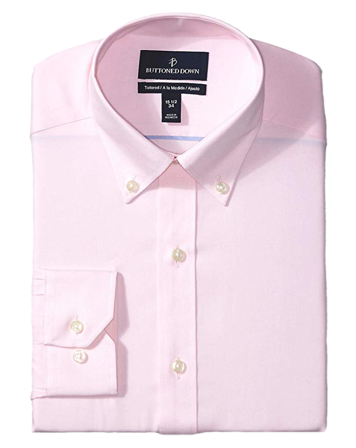 Tailored fit light-pink shirt by Buttoned Down