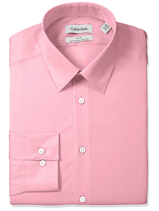 Slim-fit pink shirt by Calvin Klein
