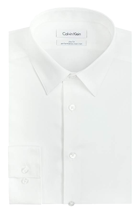 Slim fit white shirt by Calvin Klein