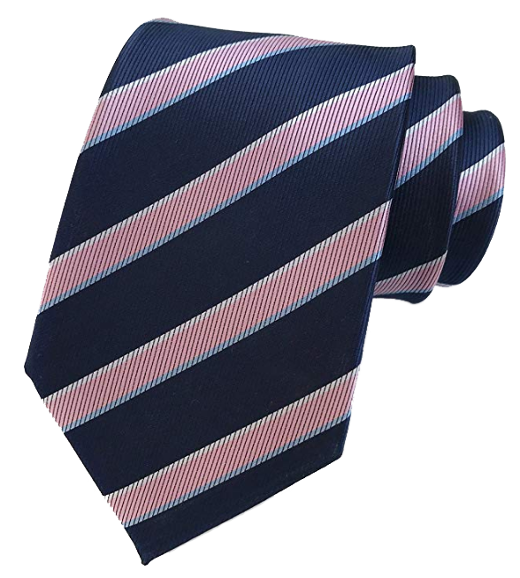 Striped navy-pink tie by Elfeves