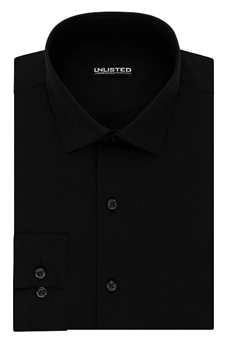 Slim fit black shirt by Kenneth Cole