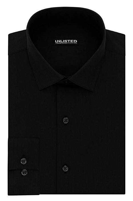Slim fit black shirt by Kenneth Cole