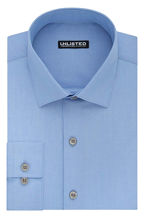 Slim fit light blue shirt by Kenneth Cole