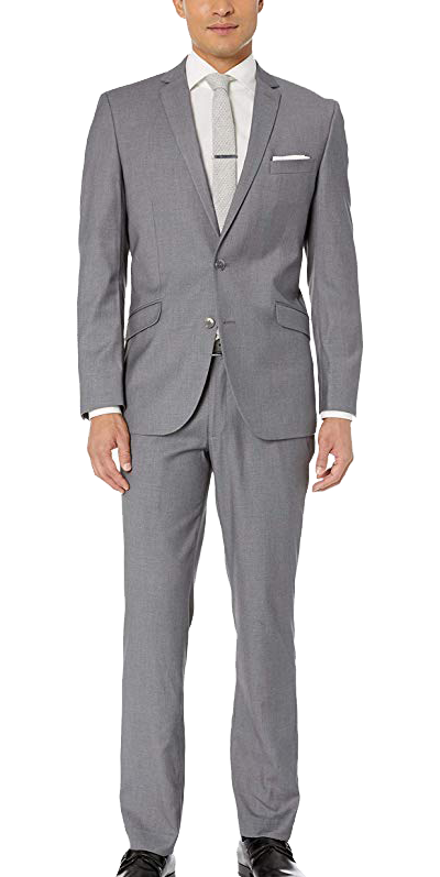 Slim fit medium grey suit by Kenneth Cole