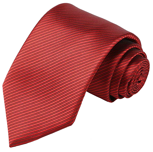 Kissties men's striped tie in red color