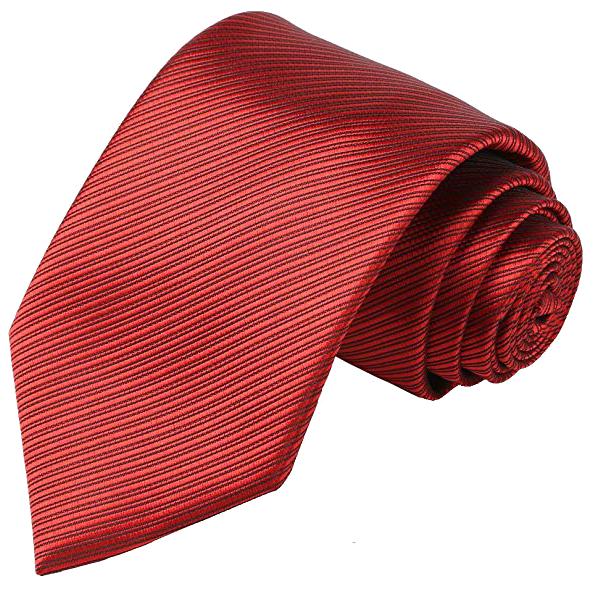 Kissties men's striped tie in red color
