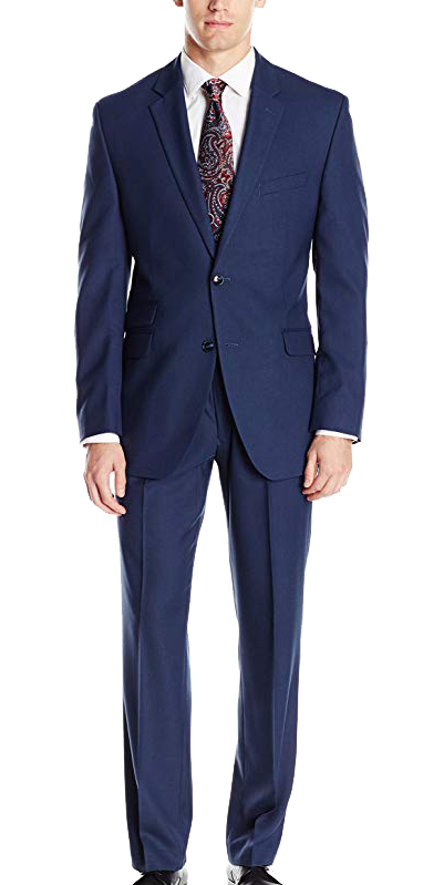 Perry Ellis slim fit suit in navy color