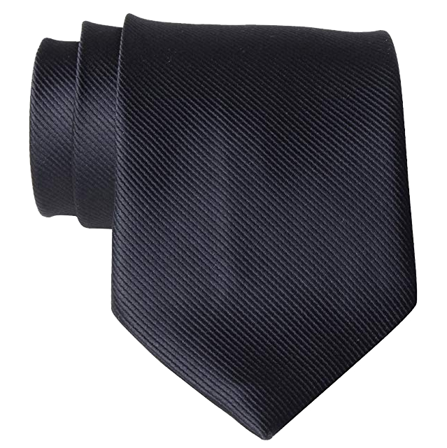 Solid black tie by QBSM