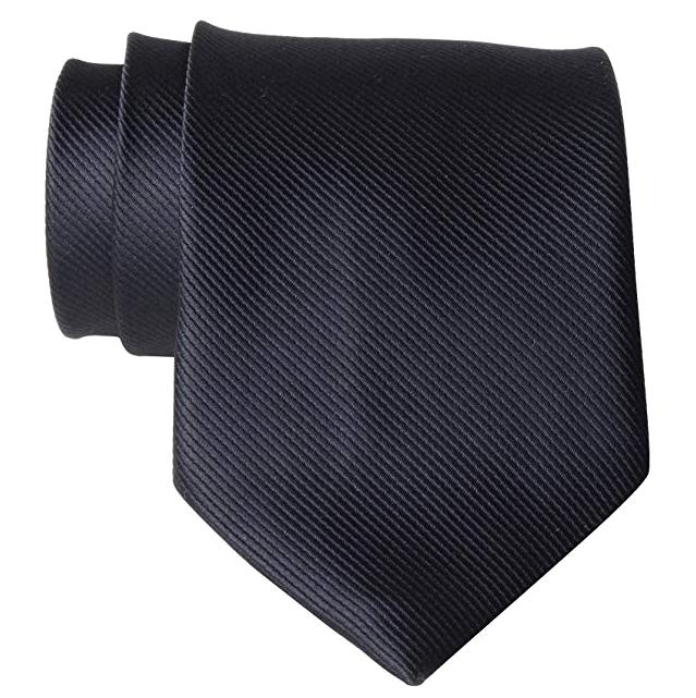 Solid black tie by QBSM