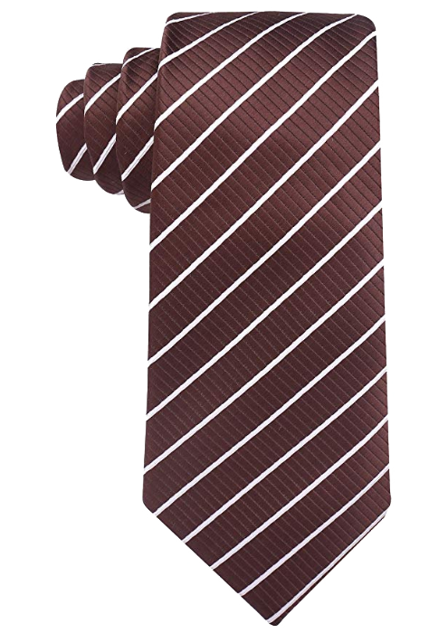 Striped brown with white tie by Scott Allan