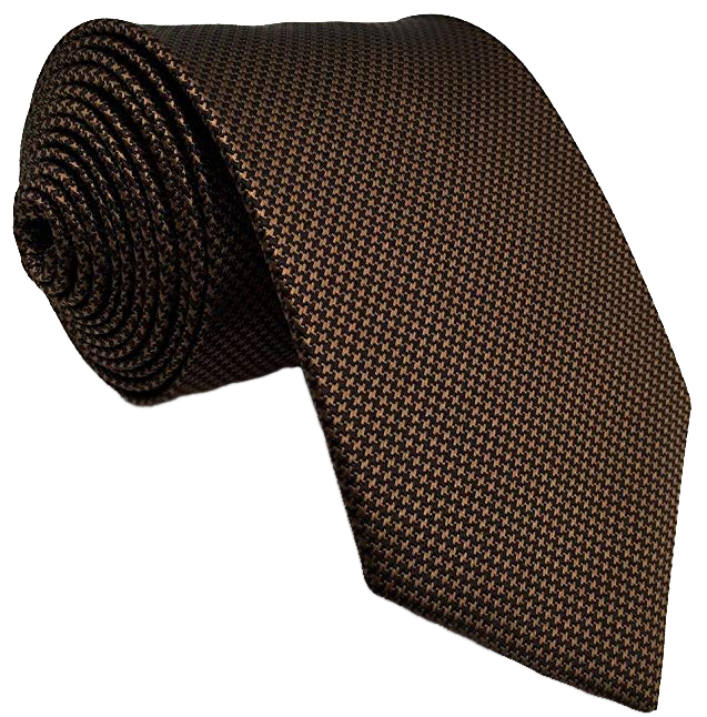 Shlax & Wing foulard tie in brown color