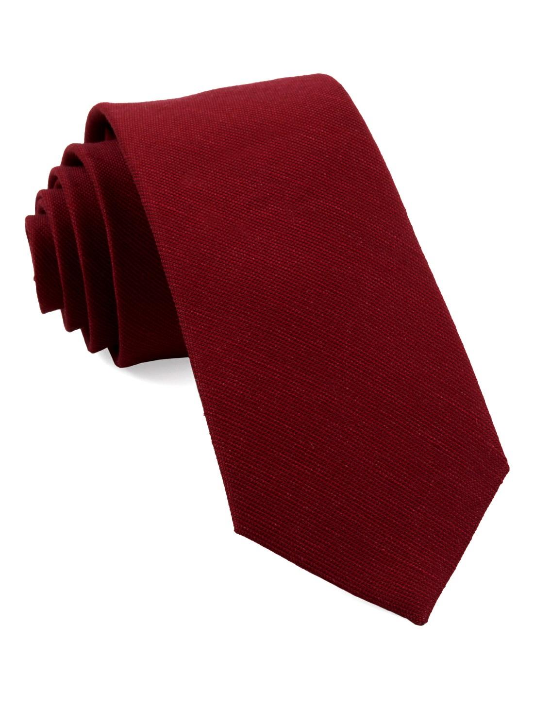 Solid color tie