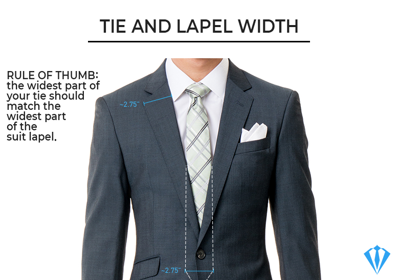 Suit basics: tie and lapel width match should match