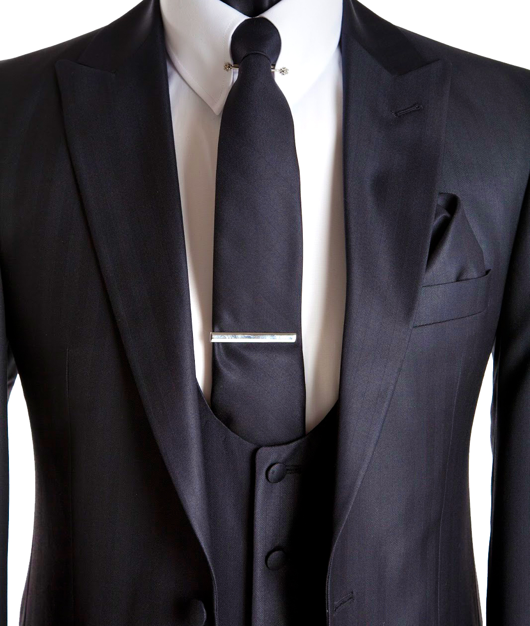 Tie clip looks great on suit