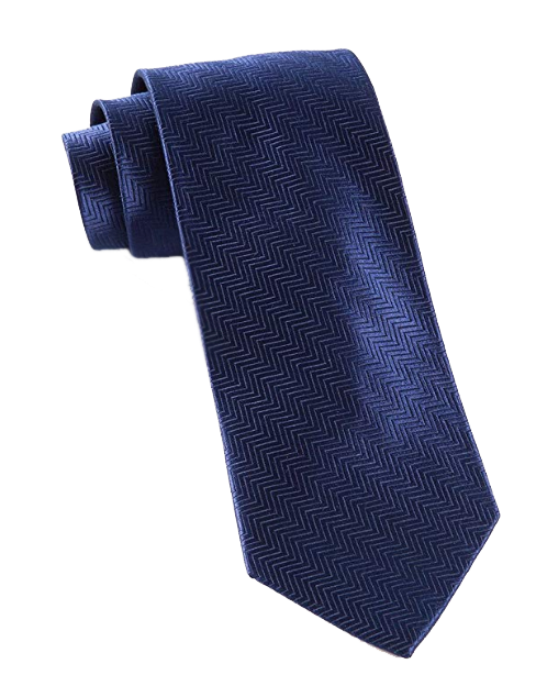 Solid navy tie by the Tie Bar