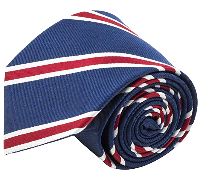 Striped tie: blue color with red stripes by CPH