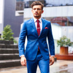 Blue suits color combinations guide with shirt and tie