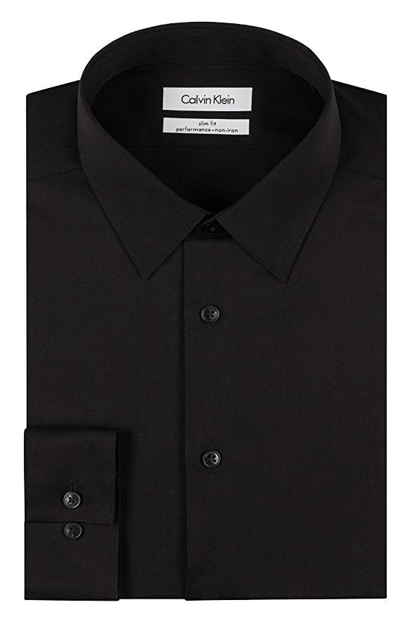 Slim fit black shirt by Calvin Klein