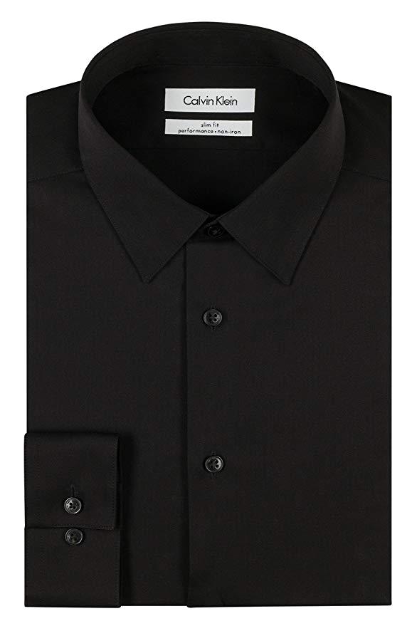 Slim fit black shirt by Calvin Klein