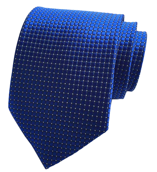 Dotted royal blue tie by Elfeves