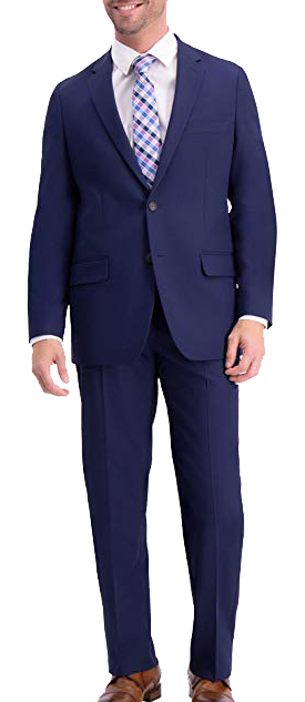 Haggar Active Classic Fit Blue Suit