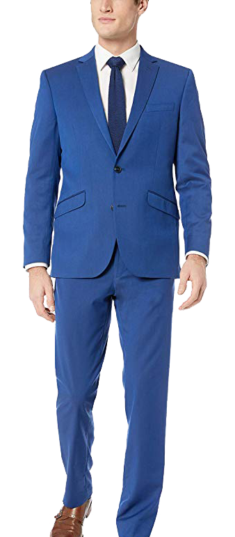 Reaction Stretch Slim Fit Blue Suit by Kenneth Cole