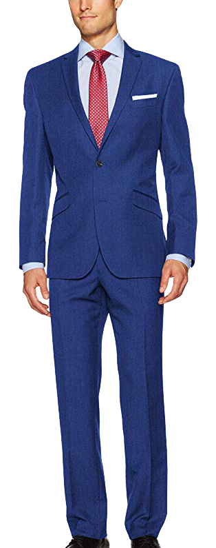 Unlisted Slim Fit Blue Suit by Kenneth Cole