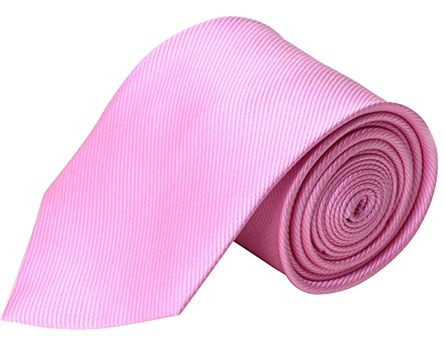 Solid tie in pink color by QBSM