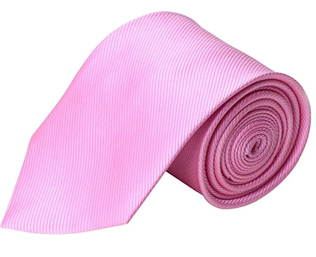Solid tie in pink color by QBSM