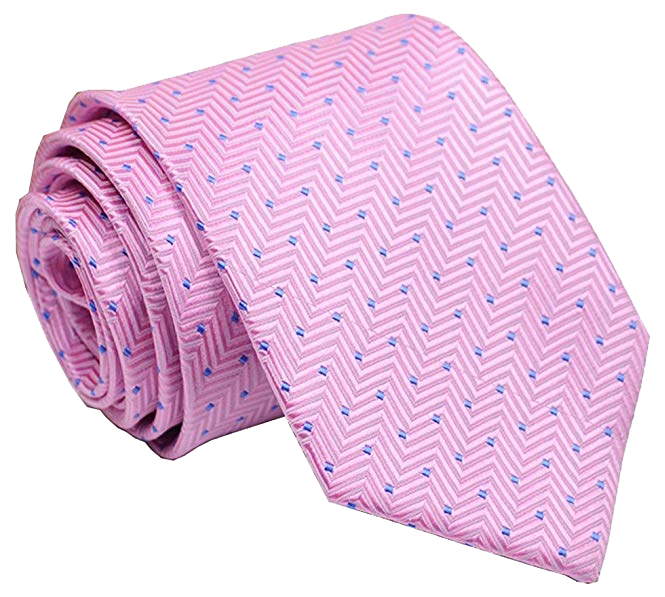 Gingham tie: Pink color with blue pattern by Secdtie
