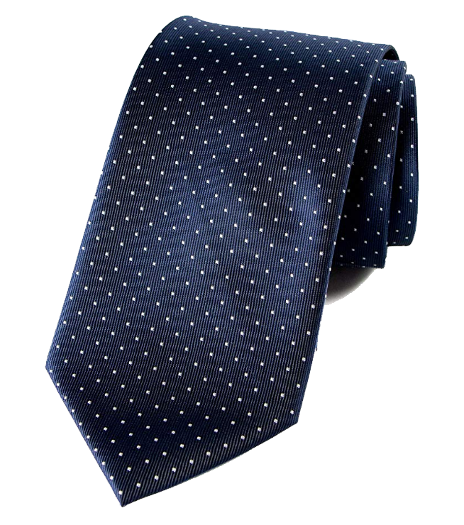 Dotted Navy tie with white dots by Spring Notion