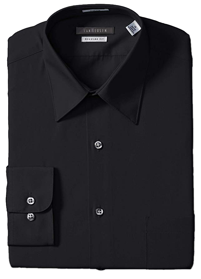 Regular fit black shirt by Van Heusen
