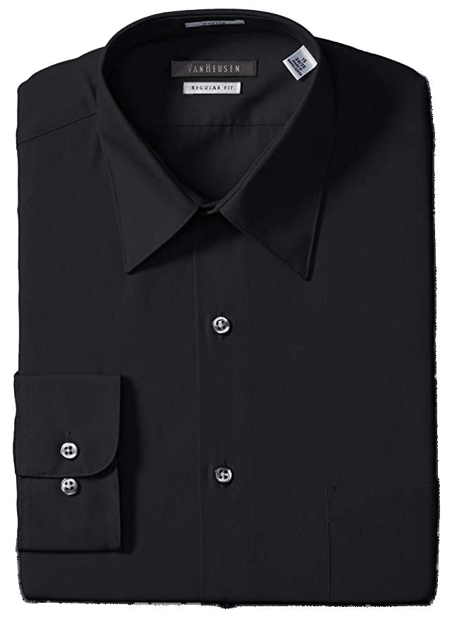 Regular fit black shirt by Van Heusen